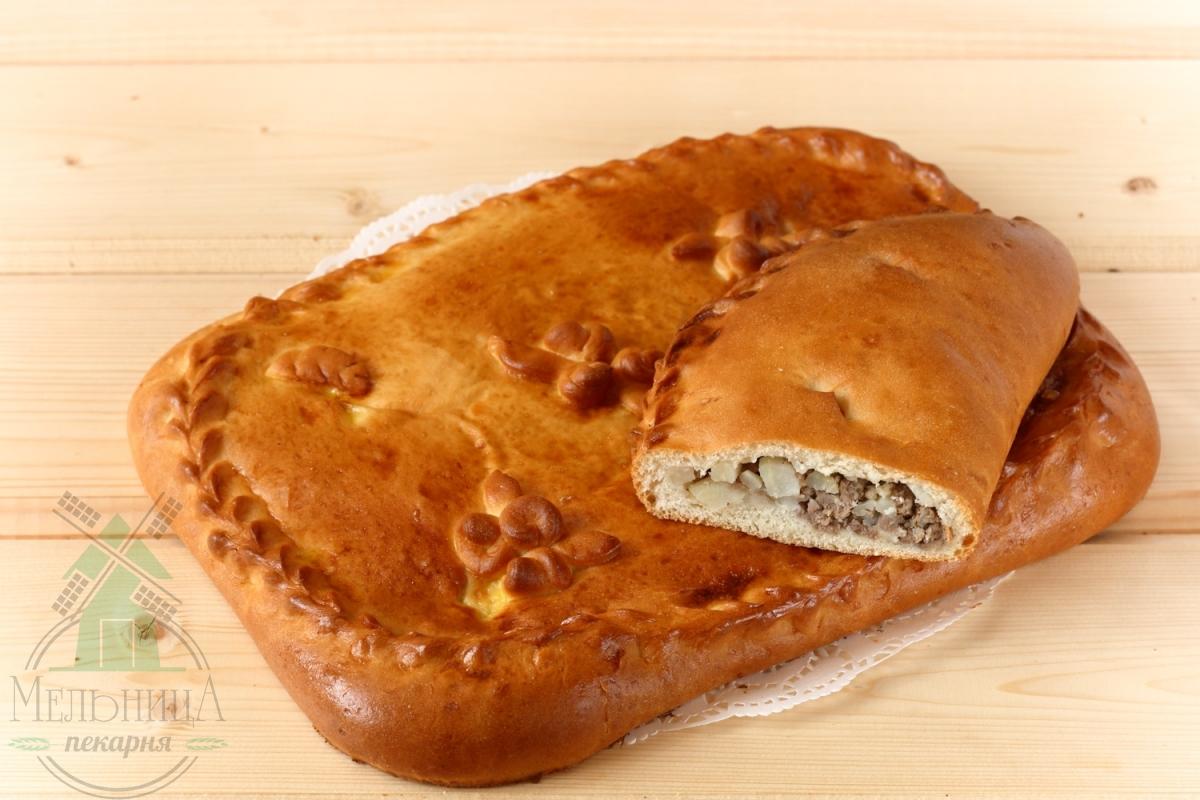 Пирог мясо+картоф.