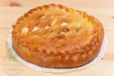 Пирог творог+абрикос